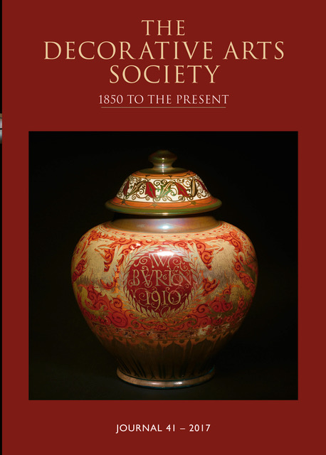 ALMOST FORGOTTON EXHIBITION OF 1862 DECORATIVE ARTS SOCIETY JOURNAL 38 2014